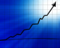 Arrow graph Royalty Free Stock Photo