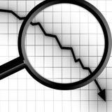 Arrow graph Stock Photos