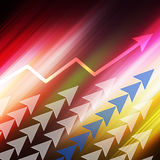 Arrow graph  Colorful  elegant on abstract background Stock Images
