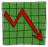 Arrow graph going down illustration Stock Photo