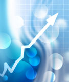 Arrow graph going up Royalty Free Stock Photo