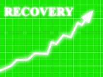 Arrow graph going up Royalty Free Stock Images