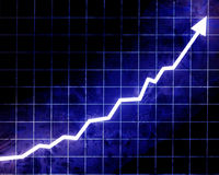 Arrow graph going up Stock Photos