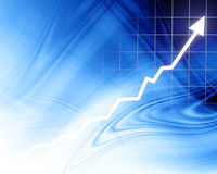 Arrow graph going up Stock Photos
