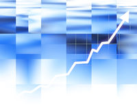Arrow graph going up Stock Image