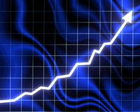 Arrow graph going up Stock Photo