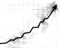 Arrow graph going up Royalty Free Stock Image