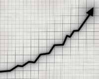 Arrow graph going up vector illustration
