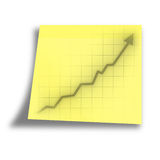 Arrow graph going up Stock Photography