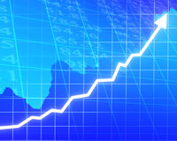 Arrow graph going up Stock Images