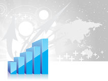 Arrow graph showing stock illustration