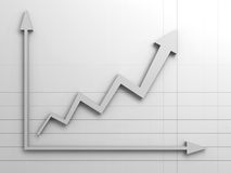 Arrow graph successful in business concept Stock Images