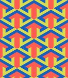 Arrow graphic design in a seamless pattern Stock Image