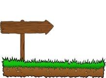 Arrow on grass Stock Image