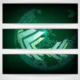 Arrow Green Background With Place For Your Text. Vector Illustration. Eps 10 vector illustration
