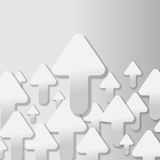 Arrow Grey Up Vertical Background Vector Royalty Free Stock Photo