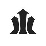 Arrow growing graph vector icon. Progress arrow grow sign illust. Ration. Business concept Royalty Free Stock Photo