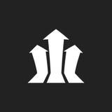 Arrow growing graph vector icon. Progress arrow grow sign illust. Ration. Business concept Stock Photo