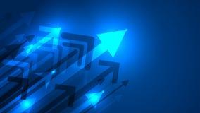 Arrow growing idea concept background. Arrow growing idea concept blue background stock illustration