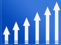 Arrow growth Stock Photography