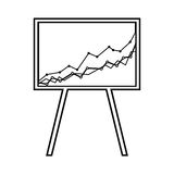Arrow growth graphic icon. Illustration design Royalty Free Stock Photo