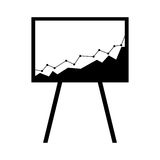 Arrow growth graphic icon. Illustration design Stock Images