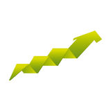 Arrow growth isolated icon Royalty Free Stock Photo