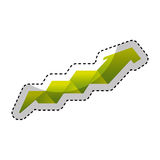 Arrow growth isolated icon Stock Photo