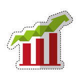 Arrow growth isolated icon. Vector illustration design Stock Photography