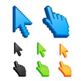 Arrow and hand cursor Stock Images
