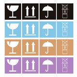 Arrow and hands box signs. Illustration Stock Photo