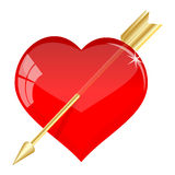 Arrow in the heart Royalty Free Stock Photos