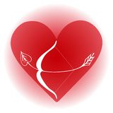 Arrow in heart Stock Photos