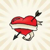Arrow Through the Heart Stock Image