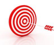The arrow hit the target Stock Photo