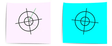 The arrow hits the first target. Vector illustration. EPS-file which can be edited as you like. An arrow is in the center of the first target. The second target Royalty Free Stock Image