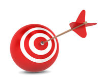 Arrow hits spherical aim Royalty Free Stock Photography