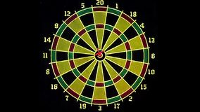 Arrow hits the target stock footage