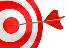 Arrow hits the target Stock Image