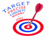 Arrow hits the target Stock Photography