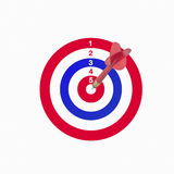 Arrow hits the target Royalty Free Stock Photography