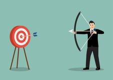 Arrow hitting target Royalty Free Stock Image