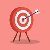 Arrow hitting target Stock Image