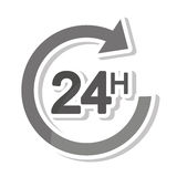 Arrow 24 hours service. Illustration design Royalty Free Stock Images