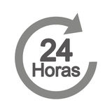 Arrow 24 hours service. Illustration design Stock Photography