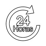 Arrow 24 hours service. Illustration design Royalty Free Stock Photos