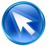 Arrow icon blue Stock Image