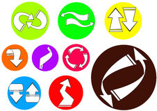 Arrow icon 02 Stock Image
