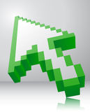 Arrow icon 3d. Stock Images