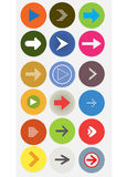 Arrow icon. Illustration of colorful arrow icons set Stock Photography